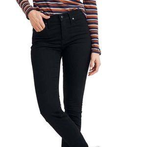 Madewell Black High Rise Skinny Jean 9 Inch